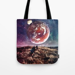Towards New Worlds Tote Bag