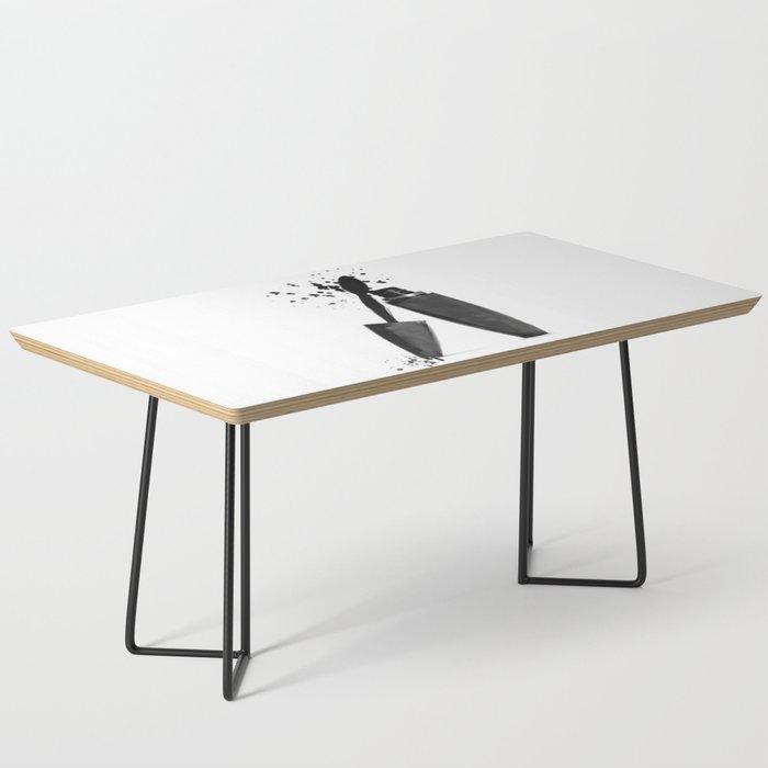 Black mascara fashion illustration Coffee Table