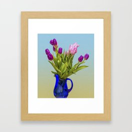 Tulips In A Vase Framed Art Print