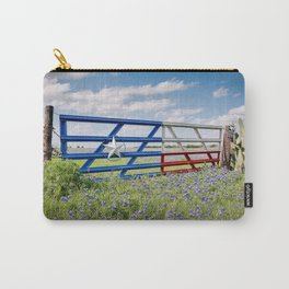 Lone Star Gate With Bluebonnets - Ennis, TX Carry-All Pouch
