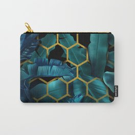 tropical banana leaves geometry Carry-All Pouch