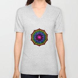 Flower Charka Mandala 43 Unisex V-Neck