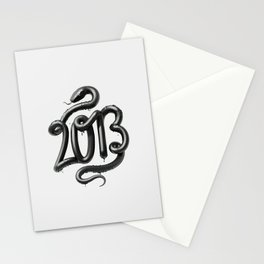 2013 - Year of the Black Water Snake Stationery Cards