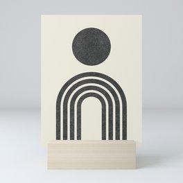 Mid century modern black Mini Art Print