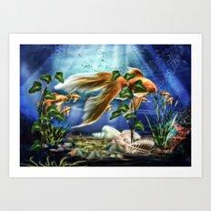 Goldfisch Amando Art Print
