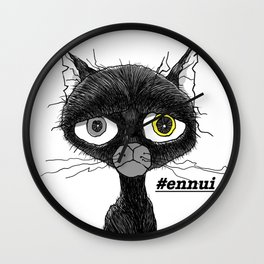 Ennui Black Cat Wall Clock