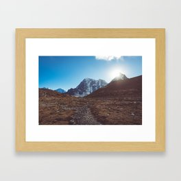 Mountains in Nepal Framed Art Print
