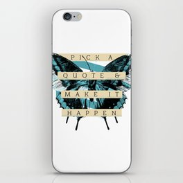 Butterfly Quote iPhone Skin