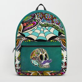 Mustache Sugar Skull Backpack