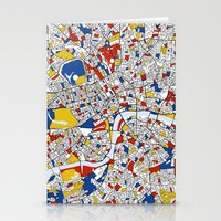 london Stationery Cards featuring London by Mondrian Maps