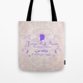 George R.R. Martin - Wedding Planner Tote Bag