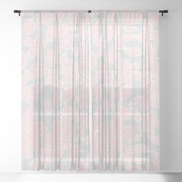 My Flower Design 6 Sheer Curtain
