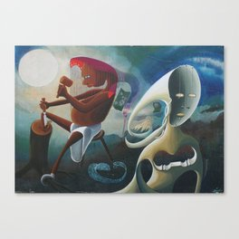Self-Made Man and Empty-Headed Woman (1994) Canvas Print
