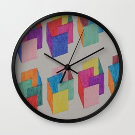 Isometric Markers Wall Clock