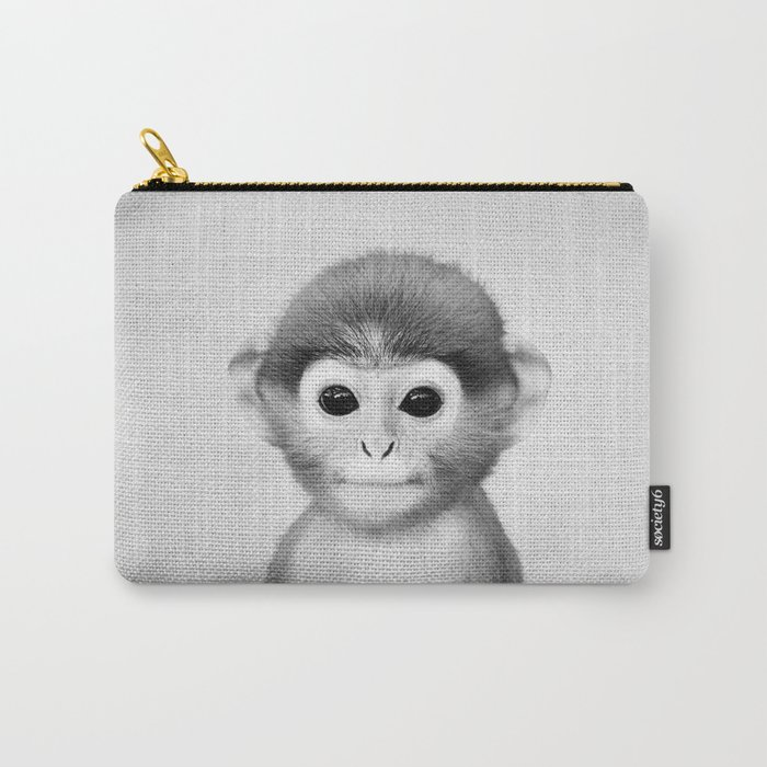 Baby Monkey - Black & White Carry-All Pouch