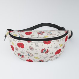 Ramona Good Luck off white Fanny Pack