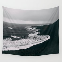 Black Beaches Wall Tapestry