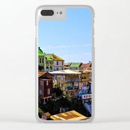 Cerro Conception, Valparaiso, Chile Clear iPhone Case