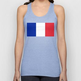 Flag of France, Authentic color & scale Unisex Tank Top