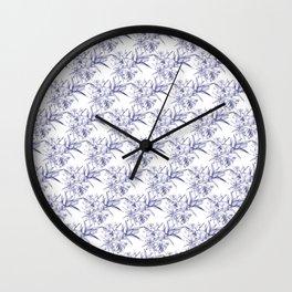 Lilium Speciosum (white) Wall Clock