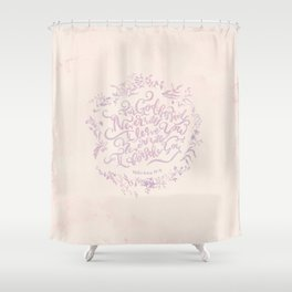 Never Will I Leave You - Hebrews 13:5 Shower Curtain
