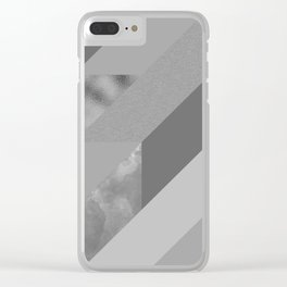 gray pattern Clear iPhone Case