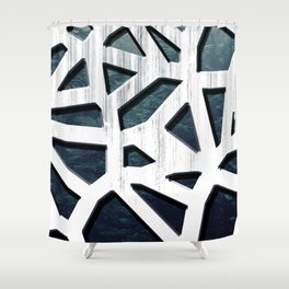 Punctured Forest Shower Curtain