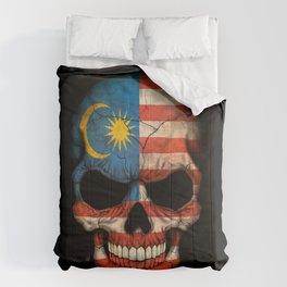 Dark Skull with Flag of Malaysia Comforters