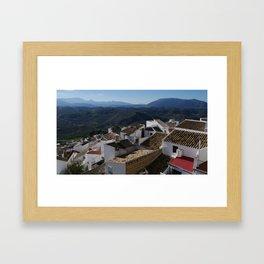 Roofs of Olvera Framed Art Print