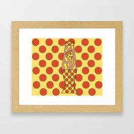 Pizza Lamp Framed Art Print