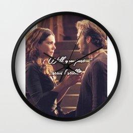 Luke and Lorelai - Stand Still Wall Clock