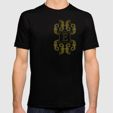Letter E Seahorse MEDIUM Mens Fitted Tee Black