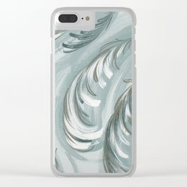 swirling feathers Clear iPhone Case
