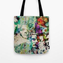 Mount Rushmore Art Abstract Paintings Modern Watercolor Robert R Splashy Art Tote Bag