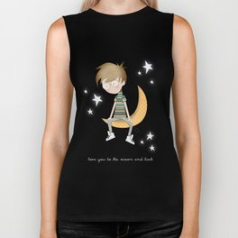 Love you to the moon and back Biker Tank