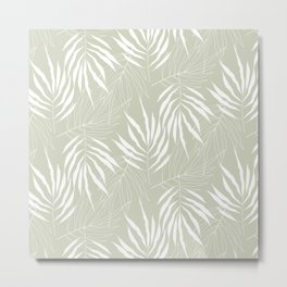 Ash Tree Leaves Scandinavian Pattern Metal Print