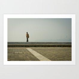 Walk along the Sea Art Print