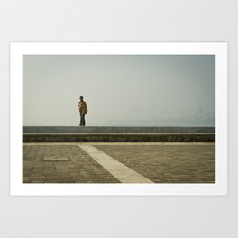 Walk along the Sea Art Print