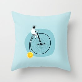 My bike Throw Pillow