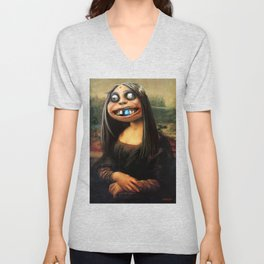 Mona Lisa Bluetooth Unisex V-Neck