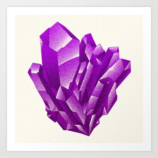 Purple Formation Art Print