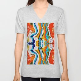 abstract shapes 6 Unisex V-Neck