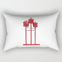 Red Bird House. Amsterdam Rectangular Pillow