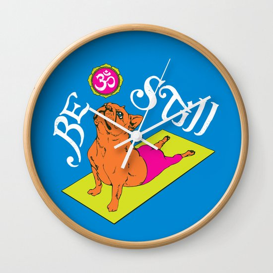 Be Still Frenchie Wall Clock