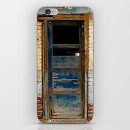 Broken Blue Door iPhone Skin