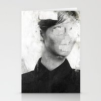 number Stationery Cards featuring Faceless | number 01 by FAMOUS WHEN DEAD