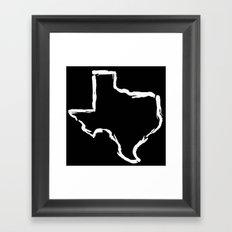 Best. State. Ever. (in white) Framed Art Print
