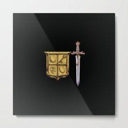 Zelda Sword & Shield Metal Print