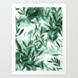 Changes Hunter Green Art Print