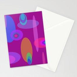 Magenta Mod Solar System Stationery Cards
